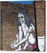 Skeleton Lady Canvas Print
