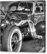 Skeleton Of A Classic Car Canvas Print