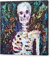 Skeleton With One Arm Canvas Print