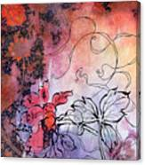 Sketchflowers - Calendula Canvas Print