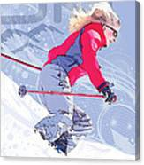 Ski 1 Canvas Print