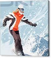 Ski 2 Canvas Print