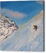 Ski Alaska Heli Ski Canvas Print