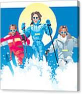 Ski Fun Art Canvas Print