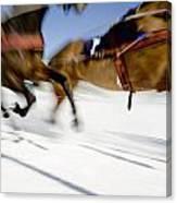 Ski Joring Race Canvas Print