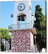 Skiathos Clock Tower Canvas Print