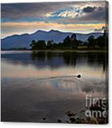 Skiddaw And Derwent Water At Dawn Canvas Print