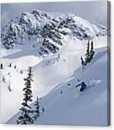 Skier Shredding Powder Below Nak Peak Canvas Print