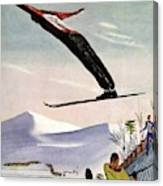 Ski Jump On Vanity Fair Cover Canvas Print