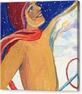 Skiers Exhilaration  Canvas Print