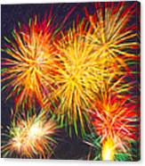 Skies Aglow With Fireworks Canvas Print
