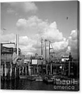 Skiffs At  Montereys Fisherman's Wharf California Circa 1945 Canvas Print