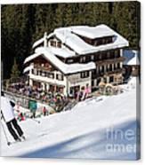 Skihaus Schifer Skier Davos Parsenn Klosters Canvas Print