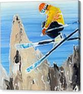 Skiing At Flegere Canvas Print