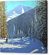 Skiing  Beauregard La Clusaz Canvas Print