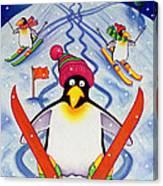 Skiing Holiday Canvas Print