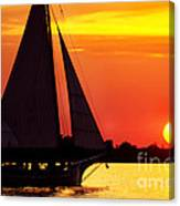 Skipjack At Sunset Canvas Print
