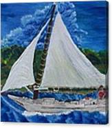 Skipjack Nathan Of Dorchester Canvas Print