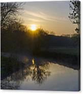 Skippack Creek Sunrise Canvas Print