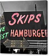 Skips Hamburgers II Canvas Print
