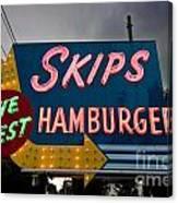 Skips Hamburgers Canvas Print