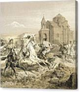 Skirmish Of Persians And Kurds Canvas Print