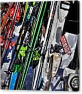 Skis At Mccauley Mountain II Canvas Print