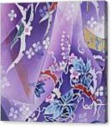 Skiyu Purple Robe Crop Canvas Print