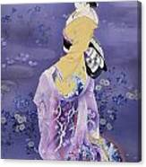 Skiyu Purple Robe Canvas Print