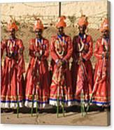 Skn 1508 Folk Dancers Canvas Print