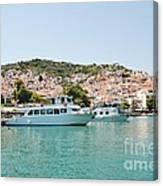 Skopelos Harbour Greece Canvas Print