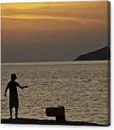 Skopelos Sunset - Fisher Boy - 1 Canvas Print