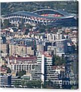 Skopje City And Stadium Canvas Print