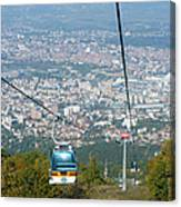 Skopje From The Cablecar Canvas Print