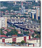 Skopje Railway Station Canvas Print
