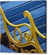 Skc 0246 Garden Benches Canvas Print