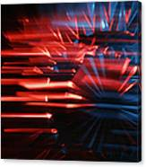 Skc 0272 Crystal Glass In Motion Canvas Print