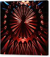 Skc 0285 Cut Glass Plate In Red And Blue Canvas Print