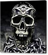 Skull And Chains Canvas Print