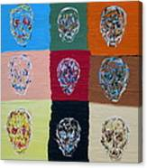 Skull Pop Nine Canvas Print