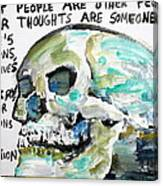 Skull Quoting Oscar Wilde.10 Canvas Print