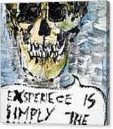 Skull Quoting Oscar Wilde.4 Canvas Print