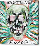 Skull Quoting Oscar Wilde.7 Canvas Print