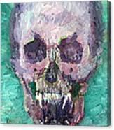 Skull Vampire Oil Portrait Canvas Print