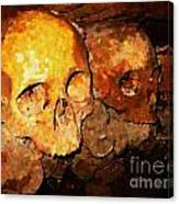 Skulls In The Paris Catacombs Canvas Print