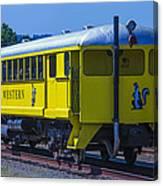 Skunk Train Passenger Car Canvas Print