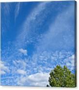 Sky Blue Summer Art Canvas Print