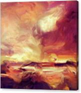 Sky Fire Abstract Realism Canvas Print