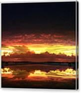 Sky Fire Siesta Key Canvas Print