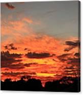 Sky Flames Canvas Print